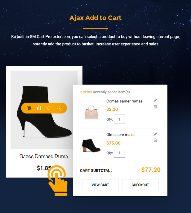 Topz - add to cart