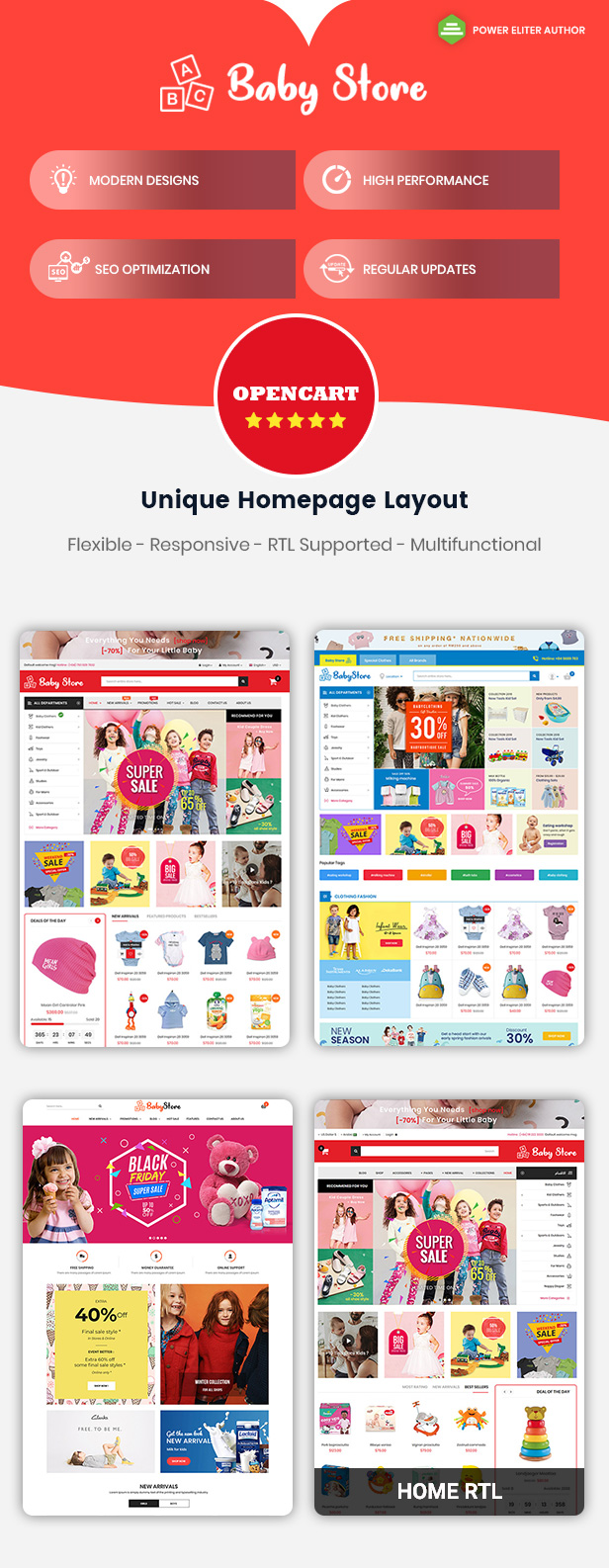 Babystore - Opencart Theme