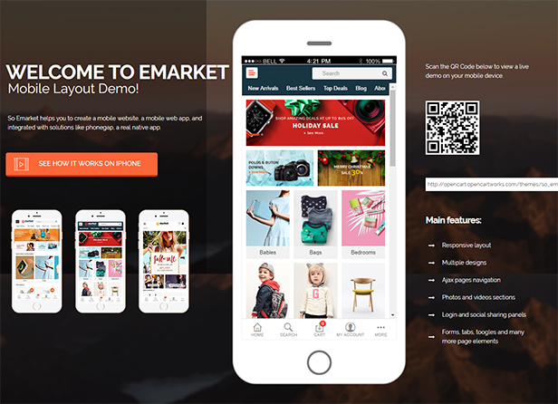 Multi Vendor Opencart Nulled Theme mobile-layout