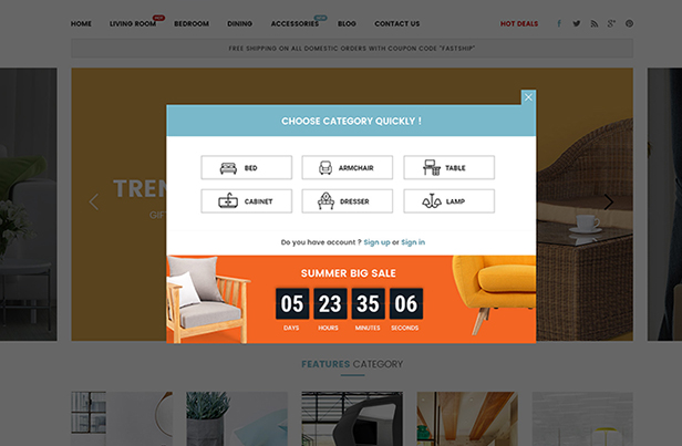 FurniShop - Opencart 3 Theme