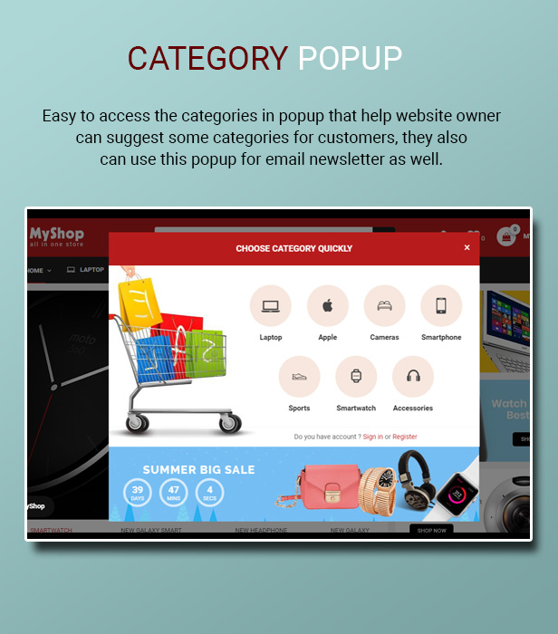 myshop - Opencart 3 Theme