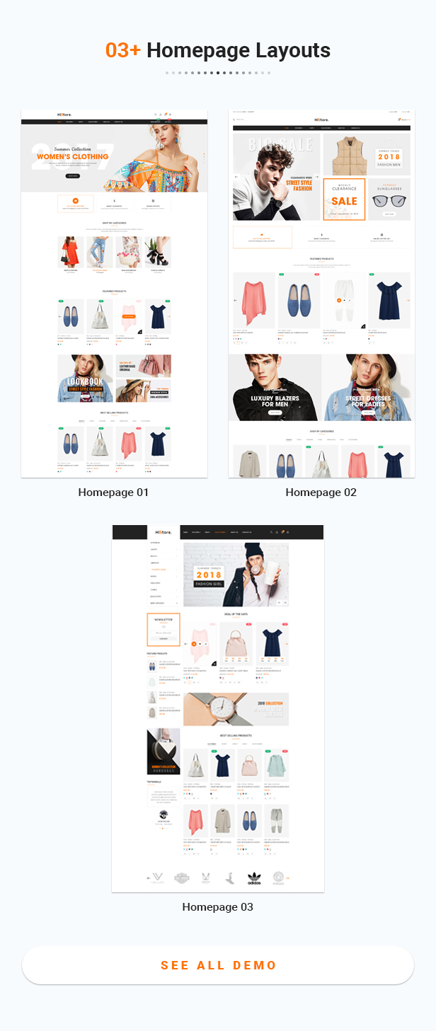 Homepage histore - clean and bright responsive prestashop 1.7 theme (prestashop) HiStore – Clean and Bright Responsive PrestaShop 1.7 Theme (PrestaShop) 01 Homepage Layouts