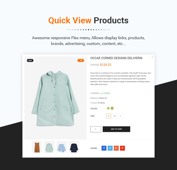 QUICKVIEW histore - clean and bright responsive prestashop 1.7 theme (prestashop) HiStore – Clean and Bright Responsive PrestaShop 1.7 Theme (PrestaShop) 08 Quickview