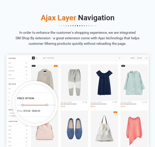Prestashop Digital Theme - Ajax add to cart histore - clean and bright responsive prestashop 1.7 theme (prestashop) HiStore – Clean and Bright Responsive PrestaShop 1.7 Theme (PrestaShop) 10 Ajax Layer Navigation