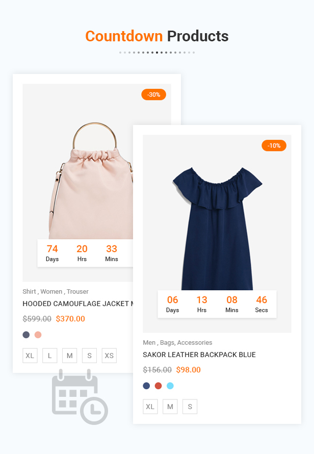 Countdown histore - clean and bright responsive prestashop 1.7 theme (prestashop) HiStore – Clean and Bright Responsive PrestaShop 1.7 Theme (PrestaShop) 11 Deals