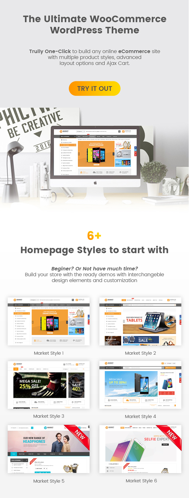 SW Market - Responsive WooCommerce WordPress Theme - Homepage