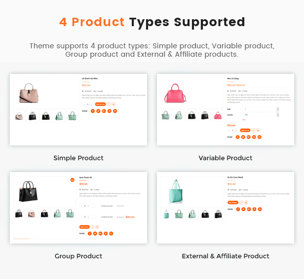 product types