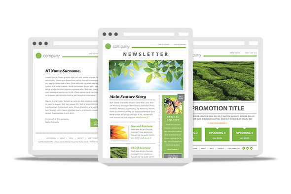 free newsletter html template