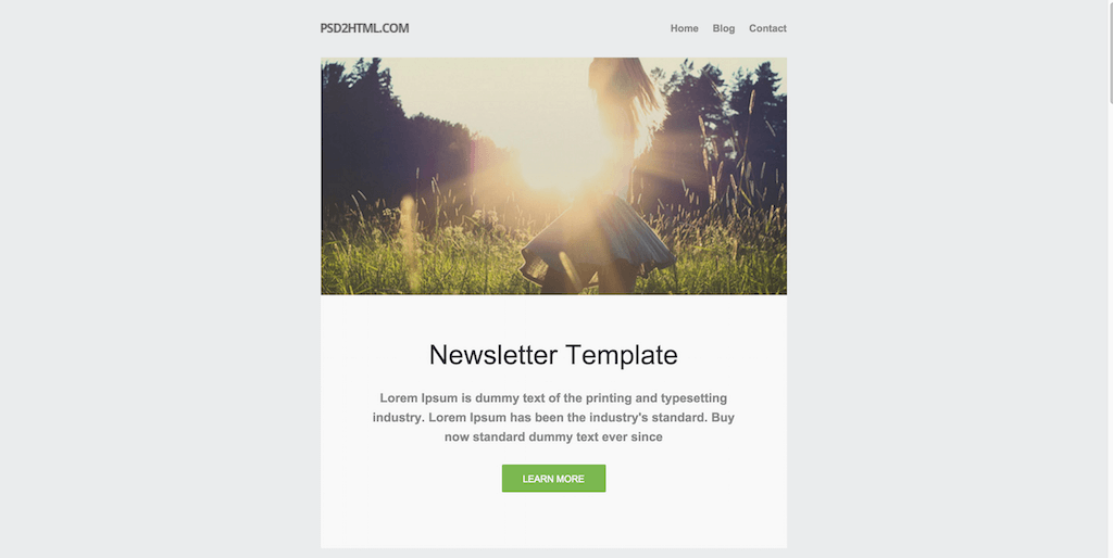 Best Free Beautiful Responsive HTML Email Templates - Newsletter html template