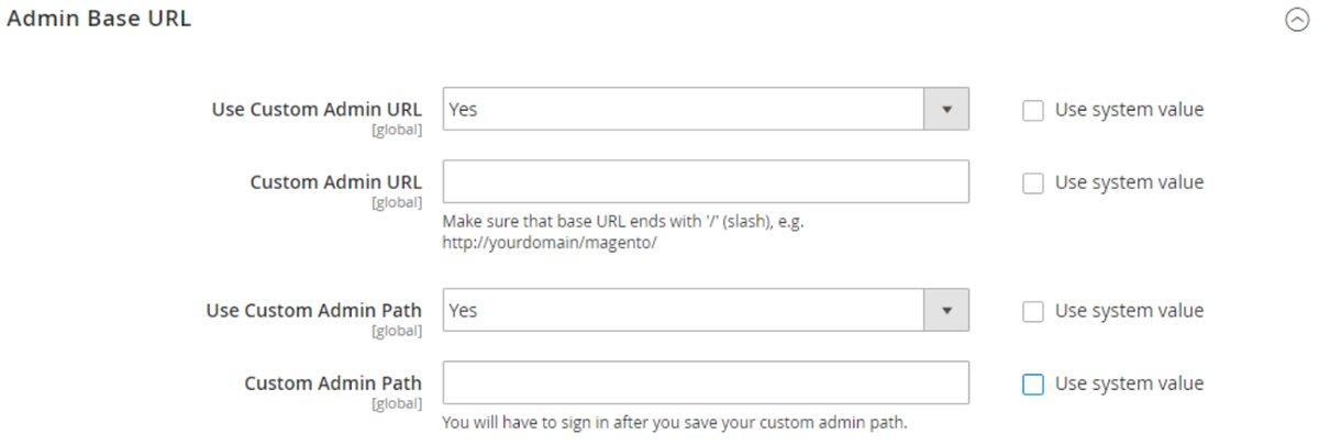 What is an Admin URL?