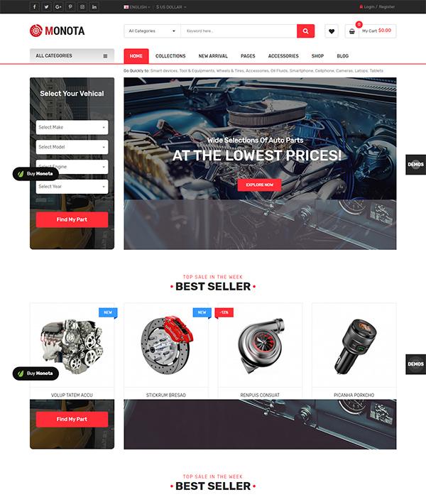 Best Premium Responsive OpenCart Theme - eMarket