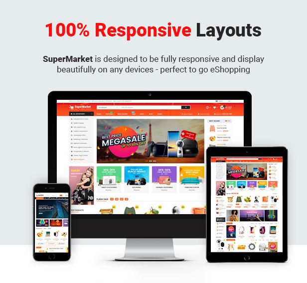 SuperMarket - Multipurpose Stencil Responsive BigCommerce Theme