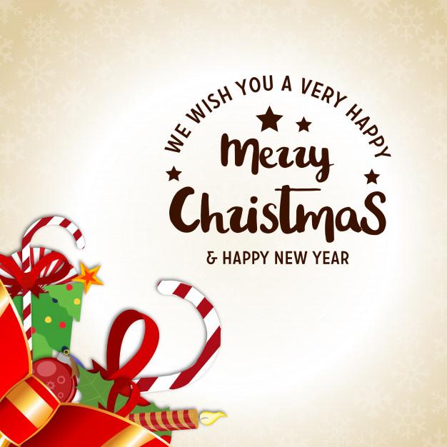 High-Quality Free Christmas Vector Graphics 2017 - Christmas Card