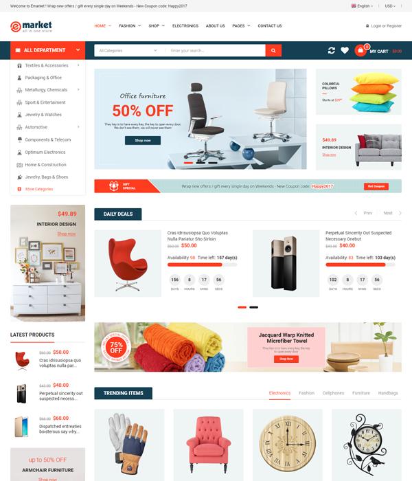 Best Marketplace Magento Themes - FreeGo