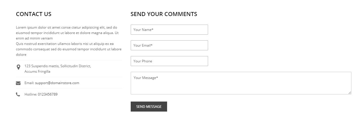 magento 2 contact form