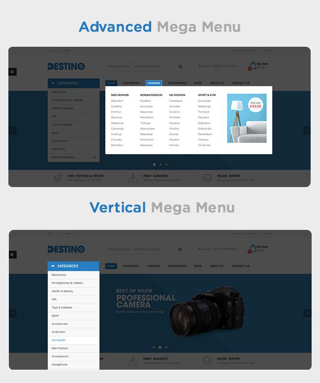 MagenTech PrestaShop Framework - Menu styles