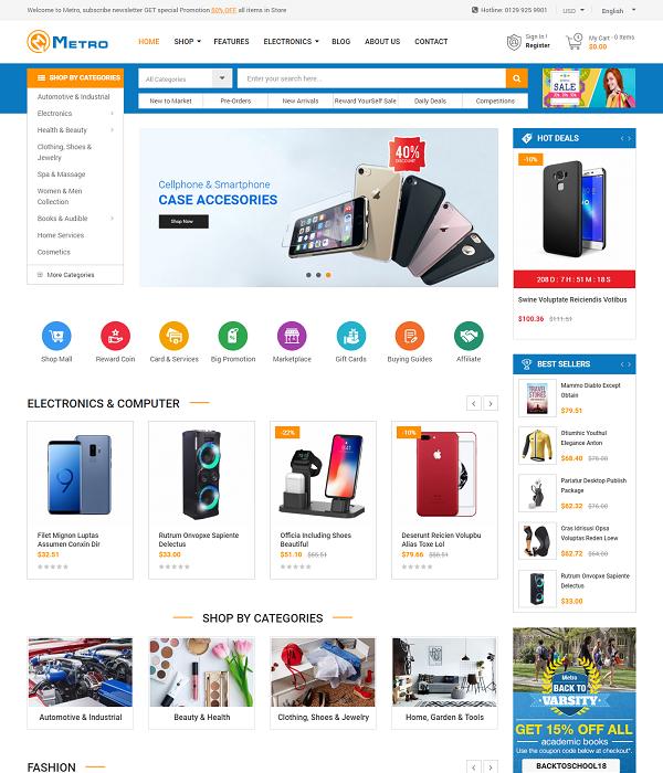 Best Free and Premium Prestashop Theme Clickboom