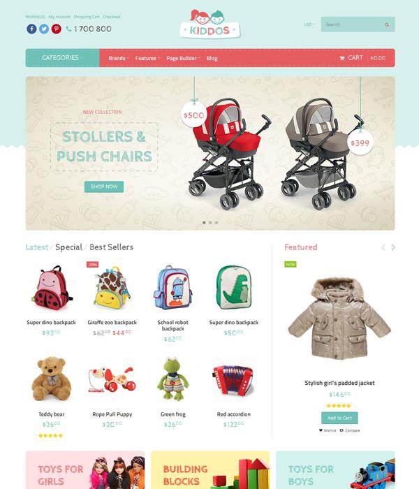 Best Premium Responsive OpenCart Theme - Kiddos