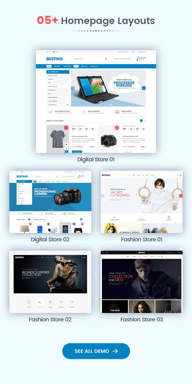 Destino - Homepage
