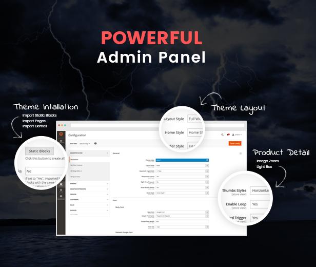 SM Destino - admin panel