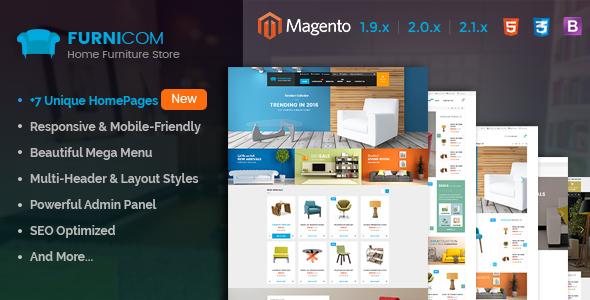 SM Furnicom - Responsive Magento theme