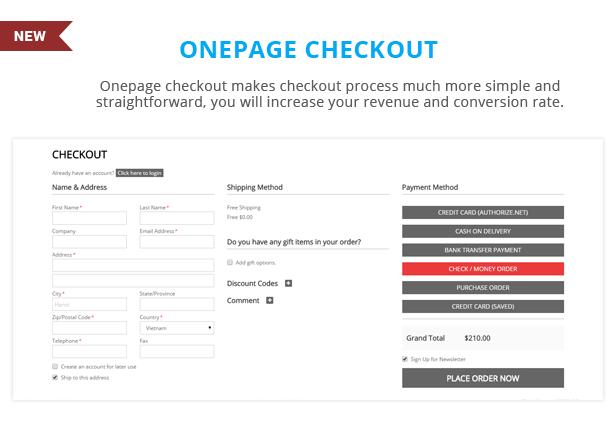 Sawyer - Onepage checkout