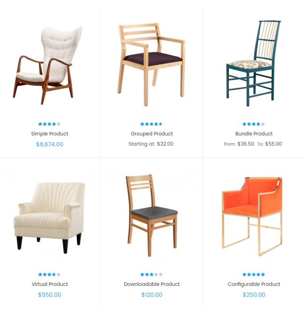Sawyer - 6 product types