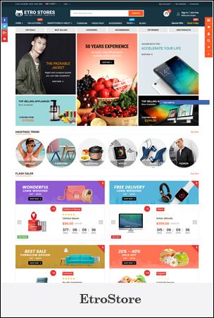 EtroStore - Responsive Multipurpose eCommerce Shopify Theme
