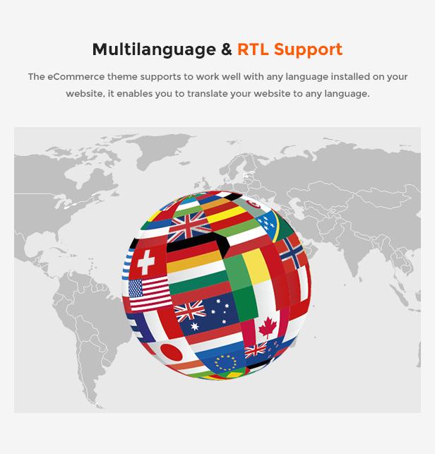 eCommerce Prestashop Shopping Theme - language