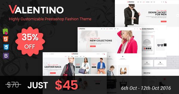 SP Valentino - Responsive Prestashop theme