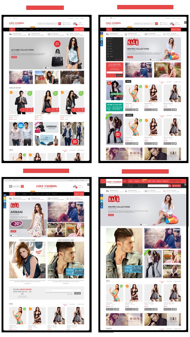 Love Fashion - Homepage Styles
