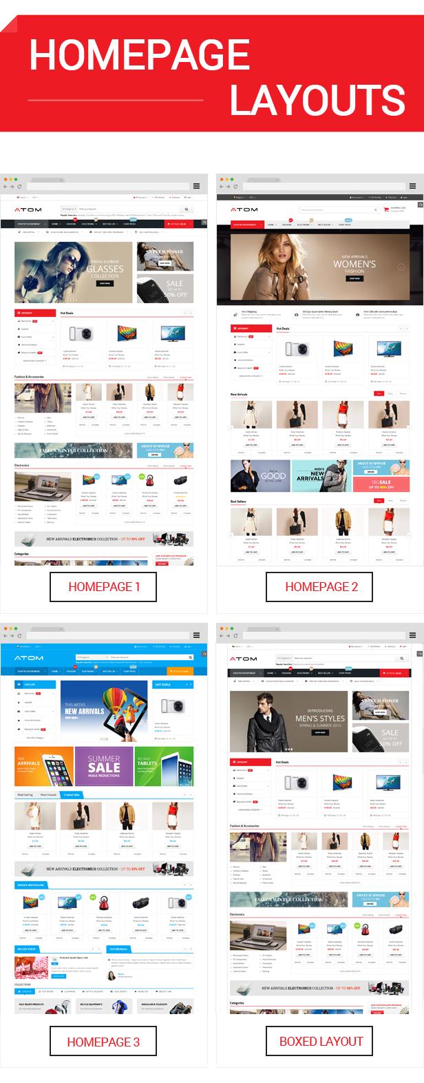 homepage - Atom -  Multipurpose Responsive Magento Theme