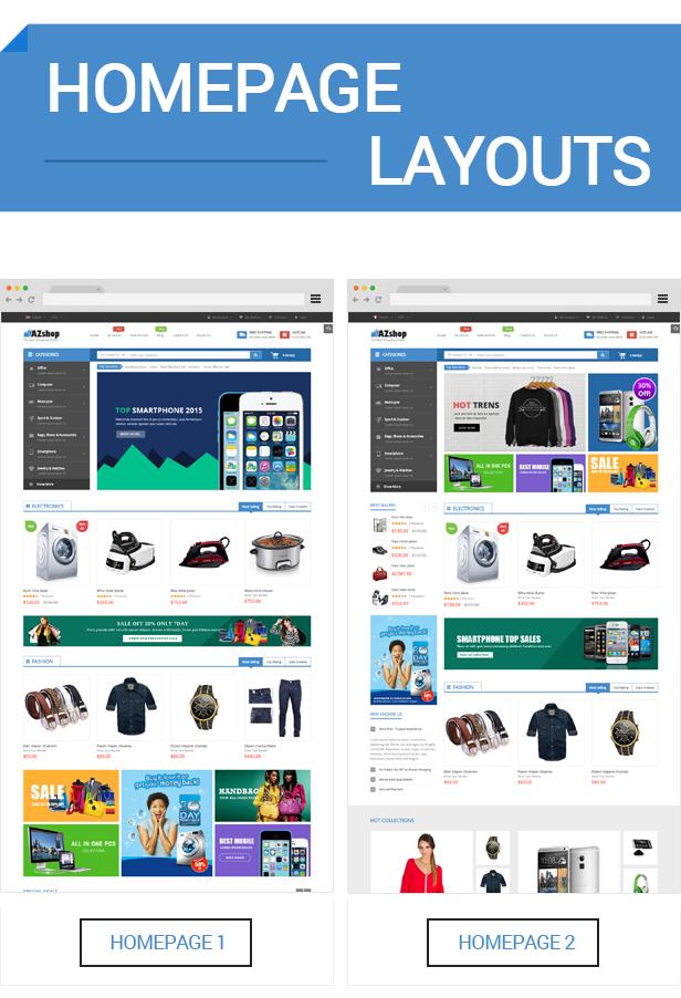 AZshop - Homepage
