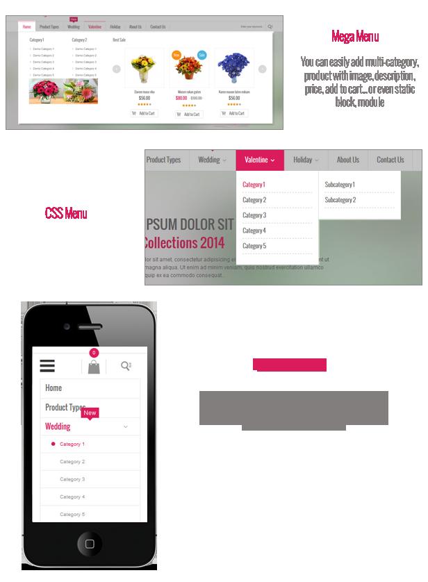 menu v2 - SM Cherry - Responsive Magento Theme