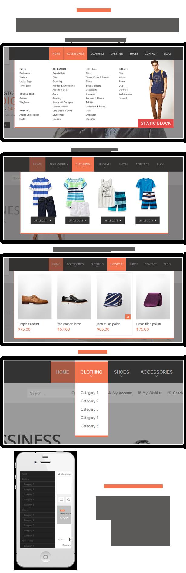 Nik- Menu styles