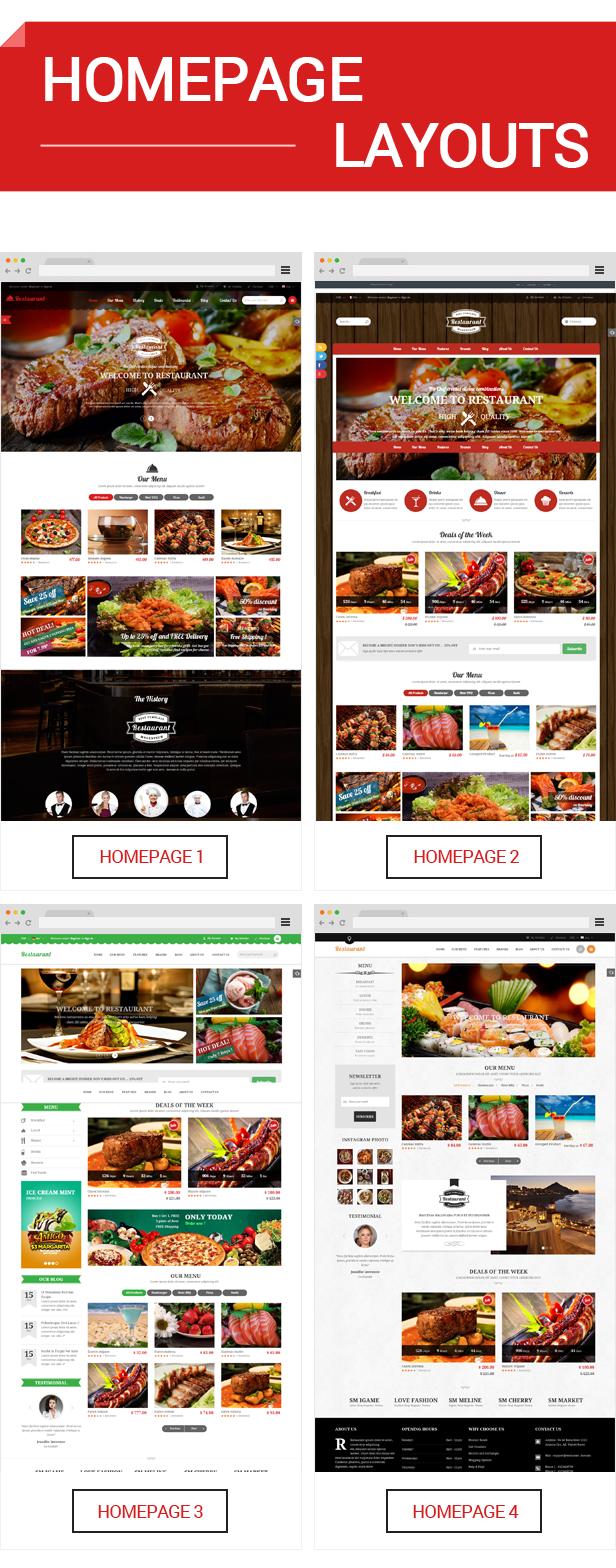 Restaurant - Homepage