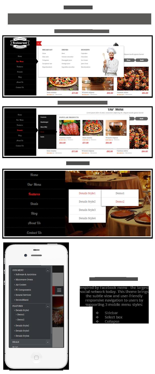 Restaurant - Menu styles