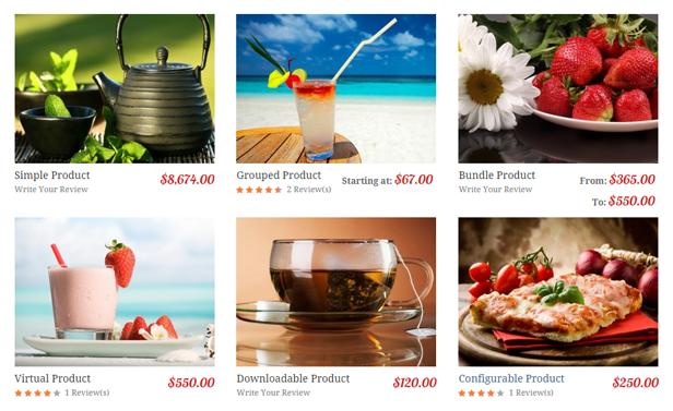 Restaurant - 6 product types