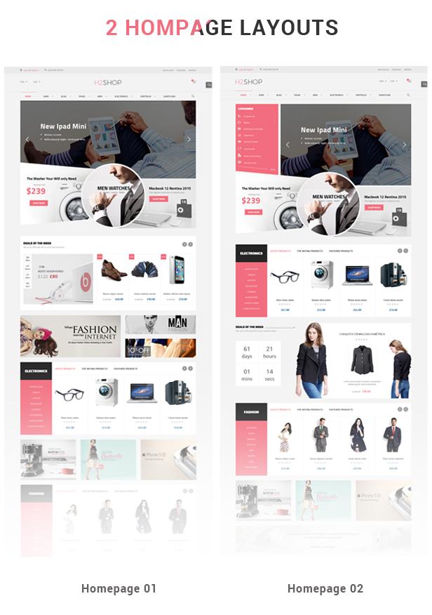 H2shop - Homepage