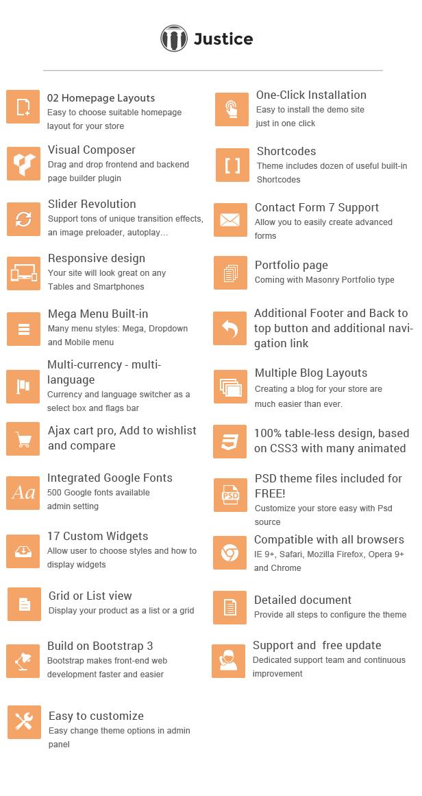 list-features-wp Justice - Responsive & Multipurpose WordPress Theme theme WordPress