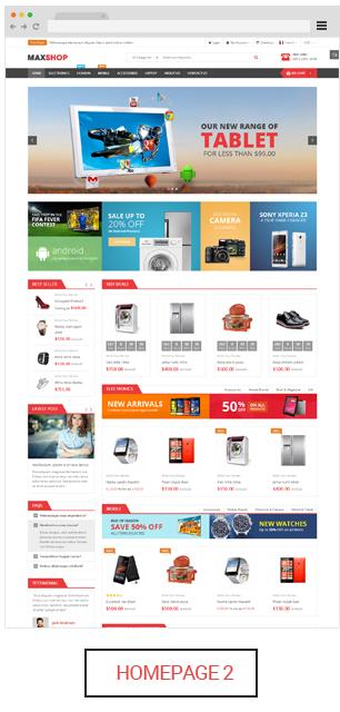 Maxshop - Homepage