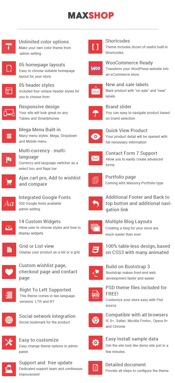 SW Maxshop - Features