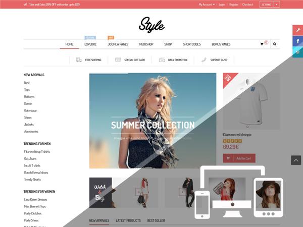 responsive layout - Style - Responsive Multipurpose MijoShop Template