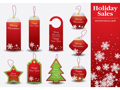 Christmas Resource Download - Christmas Tag Vector