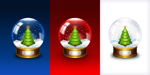 Christmas Resource Download - Christmas Snow Globe Icons