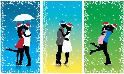 Christmas Resource Download - Xmas Couple Vector