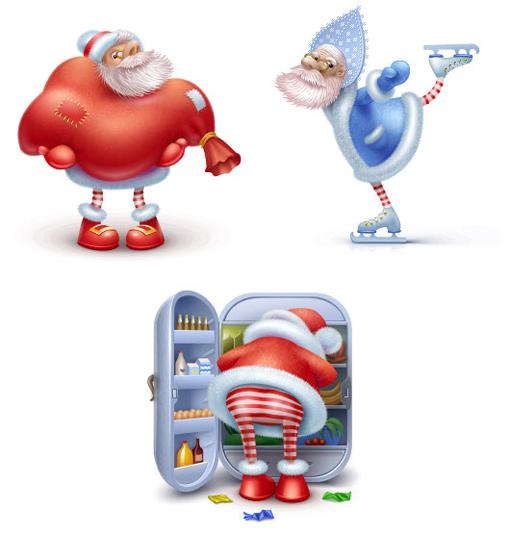 Christmas Resource Download - Three Happy Santas