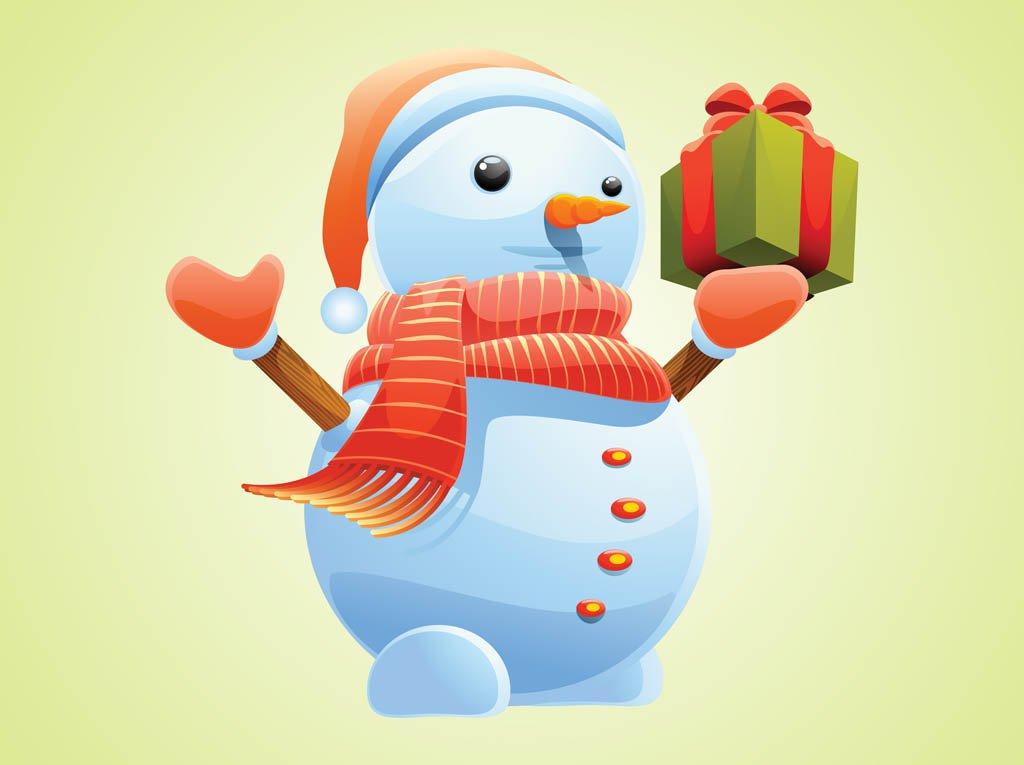 High-Quality Free Christmas Vector Graphics 2017 - Christmas Snowman