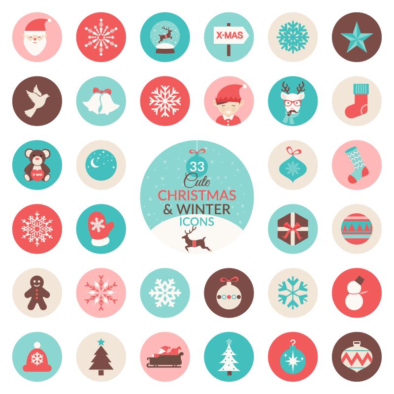 High-Quality Free Christmas Vector Graphics 2017 - 25