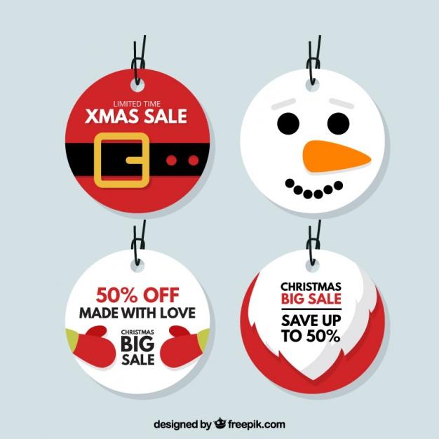 High-Quality Free Christmas Vector Graphics 2017 - Tag